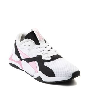 Pink/white Puma sneakers